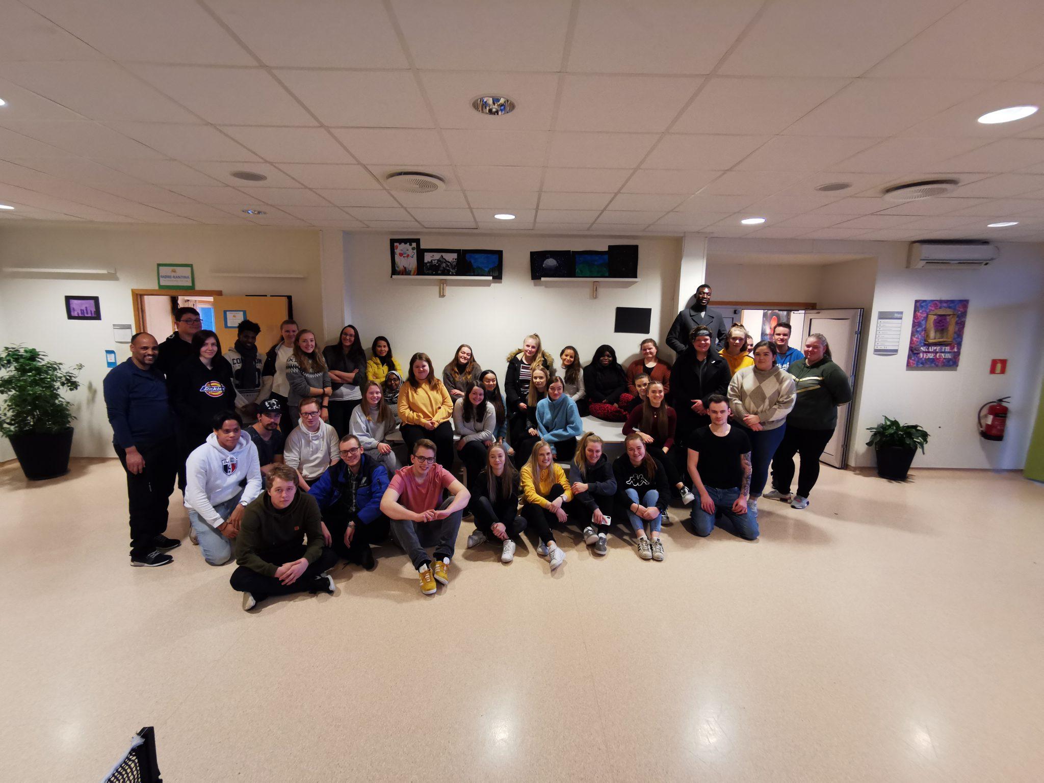 Lærlingkullet 2020 på lærlingsamling i Myrvåg
